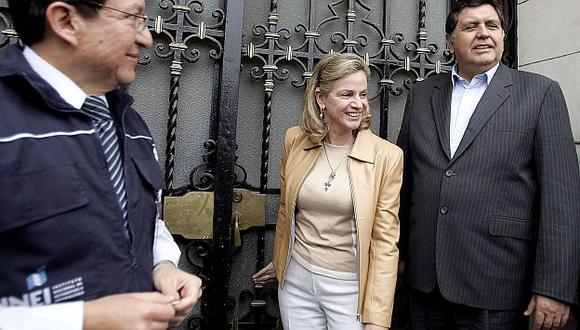 Alan García respaldó cuestionamientos de Pilar Nores al gobierno humalista. (USI)