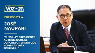 """José Naupari: """"Si el JNE demora, el titular del nuevo Congreso asumiría"""""""