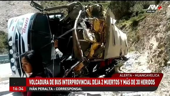 En tanto, los heridos fueron evacuados al hospital Pampas. Una de las víctimas mortales fue identificada como Mirian Argomero López (23). (Foto: Captura ATV+)