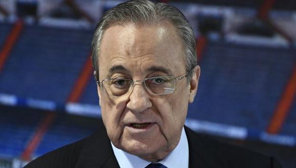 Florentino Pérez lidera como presidente el frenado proyecto de la Superliga Europea. (Foto: AFP)