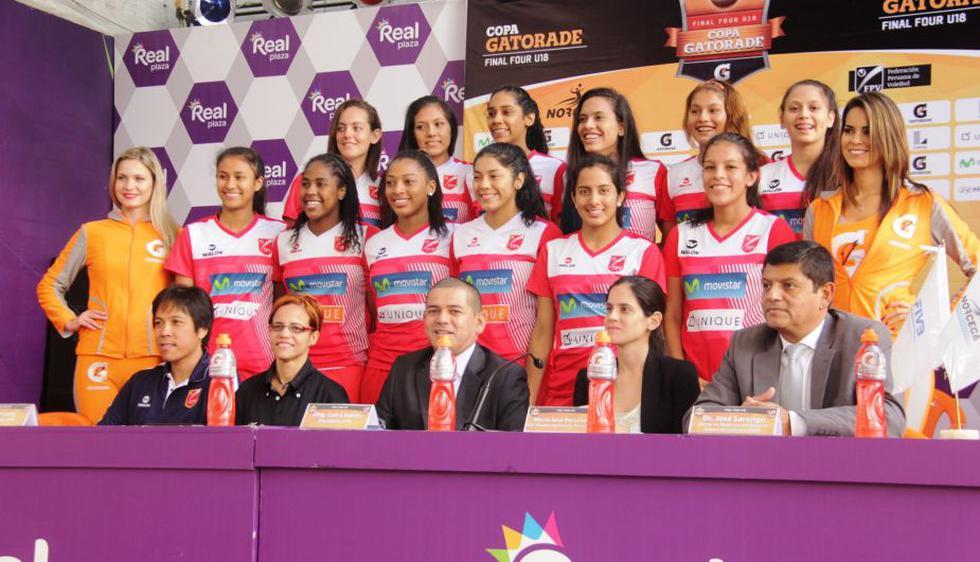 Selección de vóley sub 18 lista para disputar el Final Four U18 Copa Gatorade, en Miraflores. (Difusión)