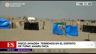 Familias invaden terrenos en el distrito de Túpac Amaru Inca en Pisco