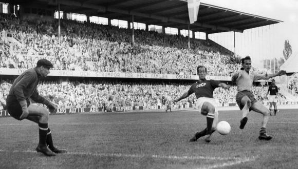 Lev Yashin en el Mundial de Suecia 58.
