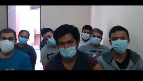 Los procesados serán internados a un penal que disponga el INPE. (Captura video Poder Judicial)