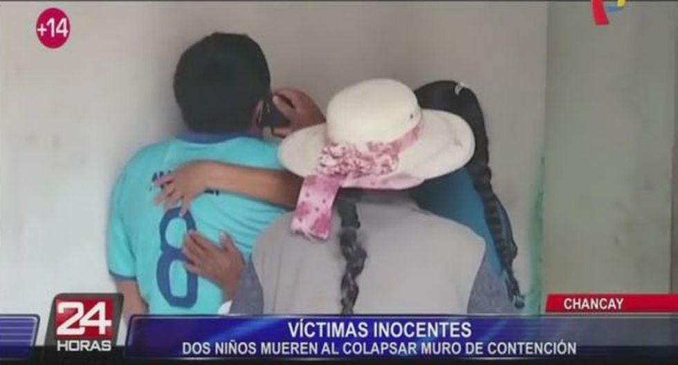 Los niños fallecieron a causa de la mala construcción del muro de contención. (Panamericana)