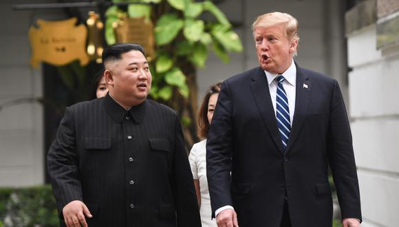 El presidente estadounidense, Donald Trump, y el líder norcoreano, Kim Jong-un. (Foto: AFP)