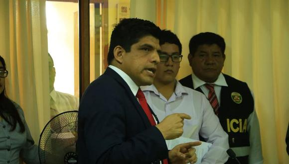 El fiscal Juan Carrasco Millones es titular de la Fiscalía Provincial Especializada contra la Criminalidad Organizada de Chiclayo. (Foto archivo GEC)