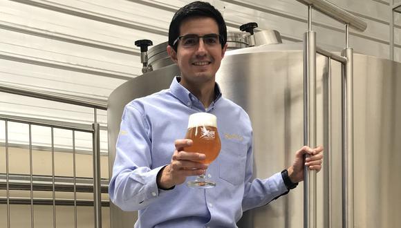 Esteban Caro, cervecero arequipeño formado en Alemania.