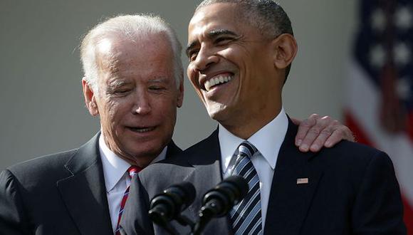 Obama compartió una fotografía en Twitter donde se le ve en un evento oficial junto a Biden. (Getty Images)