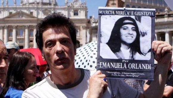 Pietro Orlandi, hermano de la joven desaparecida hace 29 años Emanuela Orlandi, durante un acto en la Plaza de San Pedro del Vaticano. (Foto: EFE)