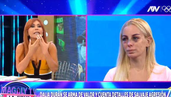 Magaly Medina realizó una larga entrevista a Dalia Durán, luego que la cubana fuera agredida por John Kelvin. (Foto: Captura de video)
