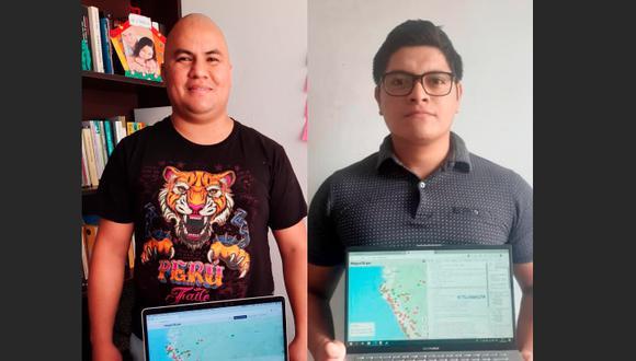 Lenin Tarrillo y Luis Eduardo Mori no se conocen en persona, pero juntos crearon Mapa19 para ayudar a las familias más vulnerables.