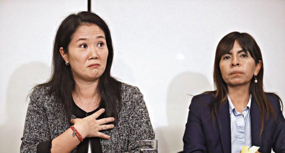 Keiko Fujimori y su abogada Giuliana Loza ahora son investigadas en el mismo caso de presuntos aportes irregulares. (Perú21)