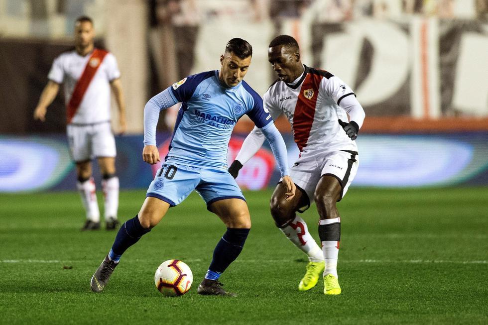 Rayo Vallecano, con Luis Advíncula, perdió 2-0 ante Girona por LaLiga. (EFE)