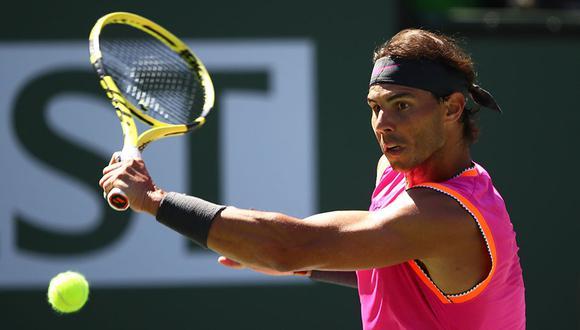 Rafael Nadal va por su boleto a semifinales del Indian Wells. Para ello debe derrotar al ruso Karen Khachanov. (Foto: AFP)