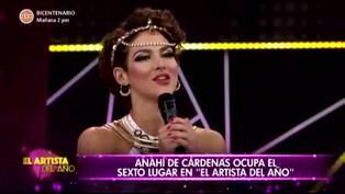 El Artista del Año: Anahí de Cárdenas queda fuera de la competencia