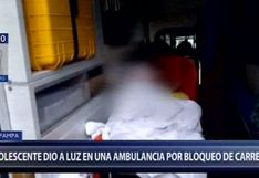 Joven dio a luz en ambulancia por bloqueo de carretera en Pasco [VIDEO]