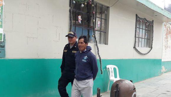 Una menor de 16 años sería cómplice del sujeto, quien tenía una requisitoria por violación en Huancayo, Junín.  (Foto: PNP)