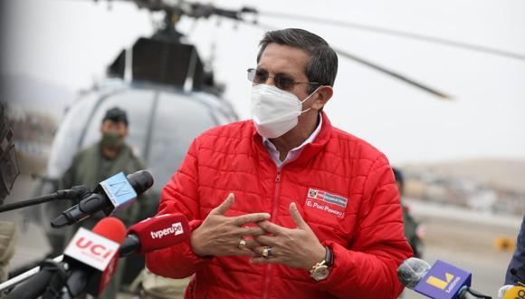 El ministro de Defensa, Jorge Chávez, señaló que las citaciones al presidente Martín Vizcarra se cumplirán según la normativa. (Foto: Britanie Arroyo / @photo.gec)