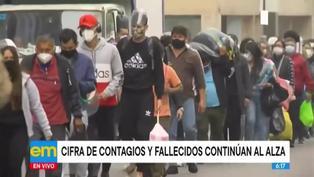 Coronavirus: cifra de contagios y fallecidos continúan al alza en el país
