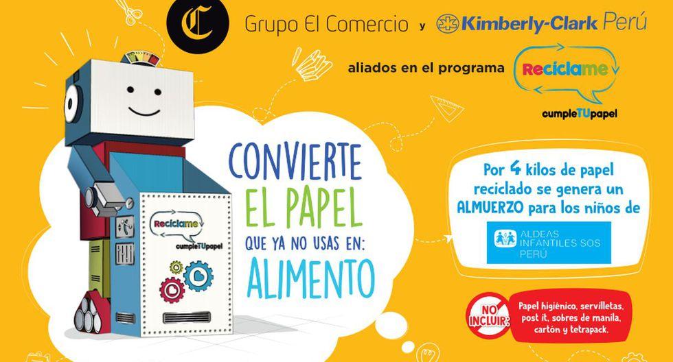Las personas pueden dejar el papel en los módulos instalados en las agencias concesionarias de publicidad del Grupo El Comercio.