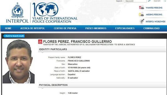 El Salvador: Interpol incluye a Francisco Flores en lista de más buscados. (EFE)