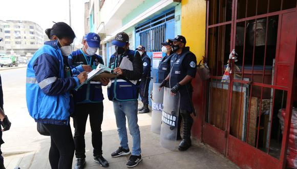 Los efectivos realizan patrullaje en la Av. 28 de Julio, entre la Av. Aviación y la Av. Nicolás Ayllón, y calles aledañas. (MML)