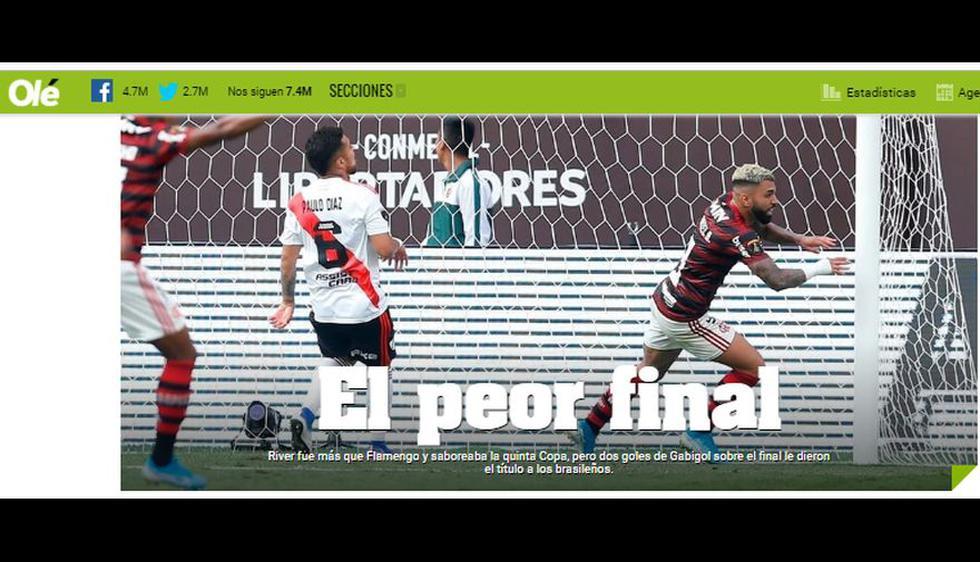 Así informa el mundo sobre el título de Flamengo en la Copa Libertadores 2019.