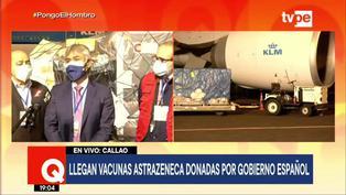 Vacunas Astrazeneca llega al país donadas por el gobierno español
