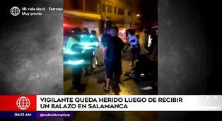 Ate: vigilante extranjero fue baleado mientras trabajaba