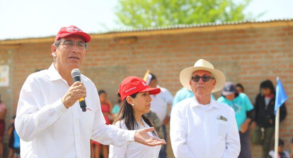 Martín Vizcarra viajó a la región Piura para supervisar obras (Presidencia)