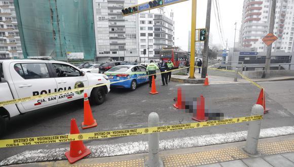 El accidente ocurrió en el cruce de las avenidas Paseo de la República y 28 de Julio, en Miraflores. (Foto: GEC)