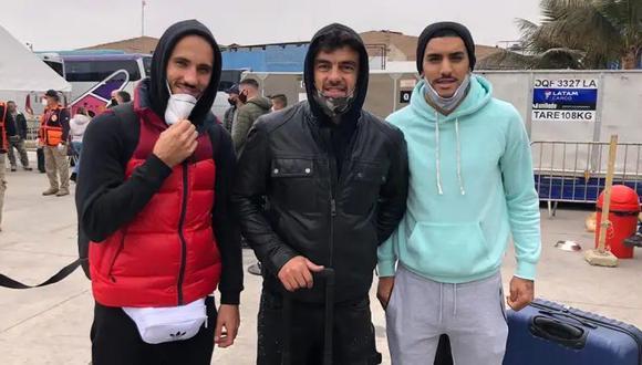 Federico Rodríguez, Luis Aguiar y Adrián Balboa deberán cumplir la cuarentena obligatoria antes de unirse al plantel de Alianza Lima. (Foto: Twitter @Andersonlpz)