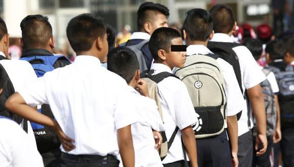 Cuidado. Colegiales pueden conseguir sustancias dentro o fuera de sus centros de estudios. (Perú21)