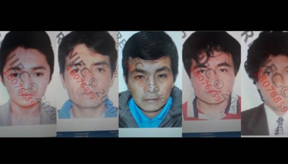 La Libertad. Ellos son los cinco mineros que fueron asesinados presuntamente por el sicario 'Serrano John'.