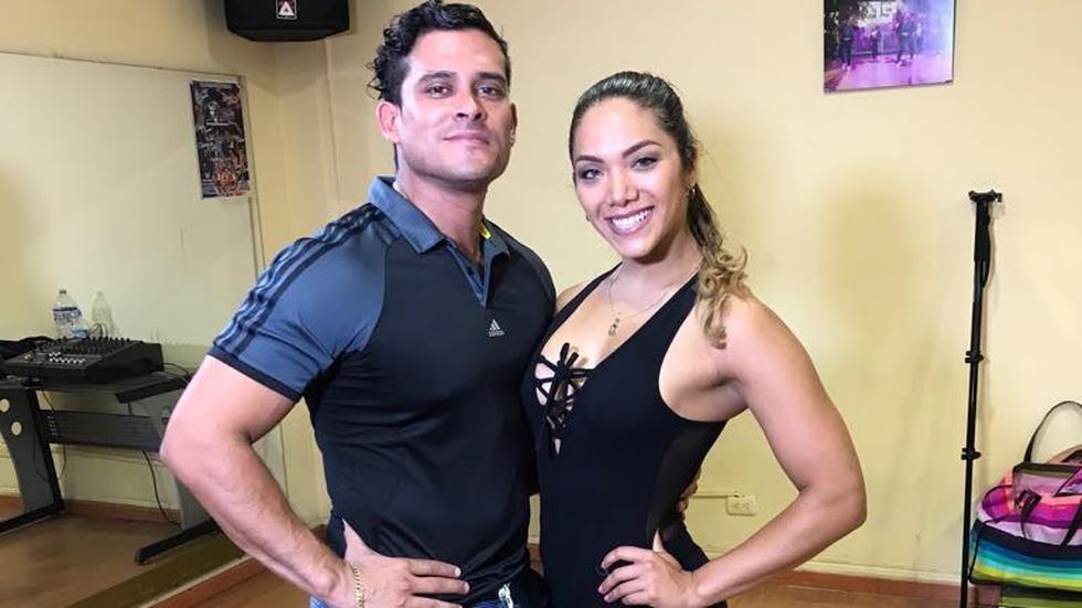 Christian Domínguez eligió a 'Chabelita', como la coreógrafa oficial de su agrupación Puro Sentimiento. (USI)
