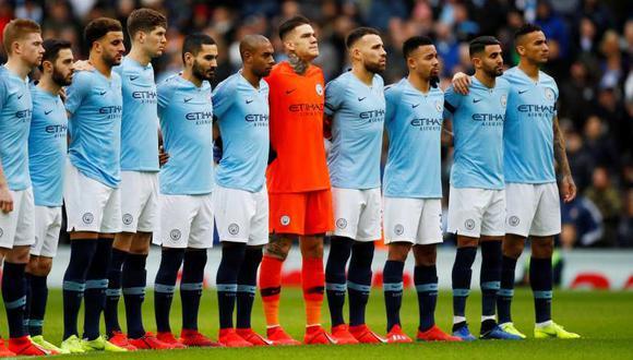 Manchester City guardó un minuto de silencio por Emiliano Sala. (Foto: Reuters)