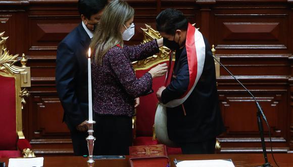 Compromiso.  En su discurso ante el Congreso, el presidente Castillo les dio su palabra a los peruanos de que no los defraudará. (Foto: Presidencia)