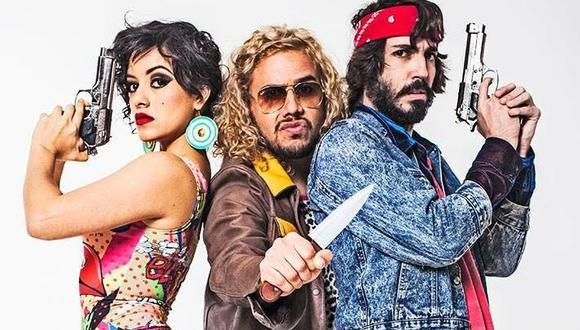 Jely Reátegui, César García y Manuel Gold juntos en 'El primer caso de Black & Jack'. (Créditos: Catalyst)