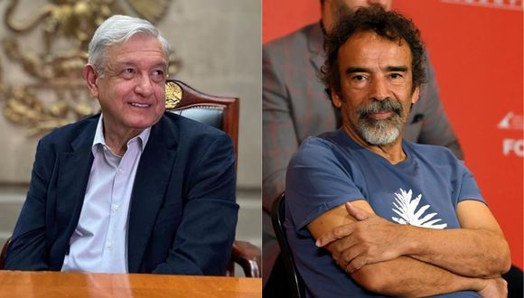 Damián Alcazar desmintió las fakenews y reivindicó su apoyo a López Obrador. (Foto: @lopezobrador/AFP)