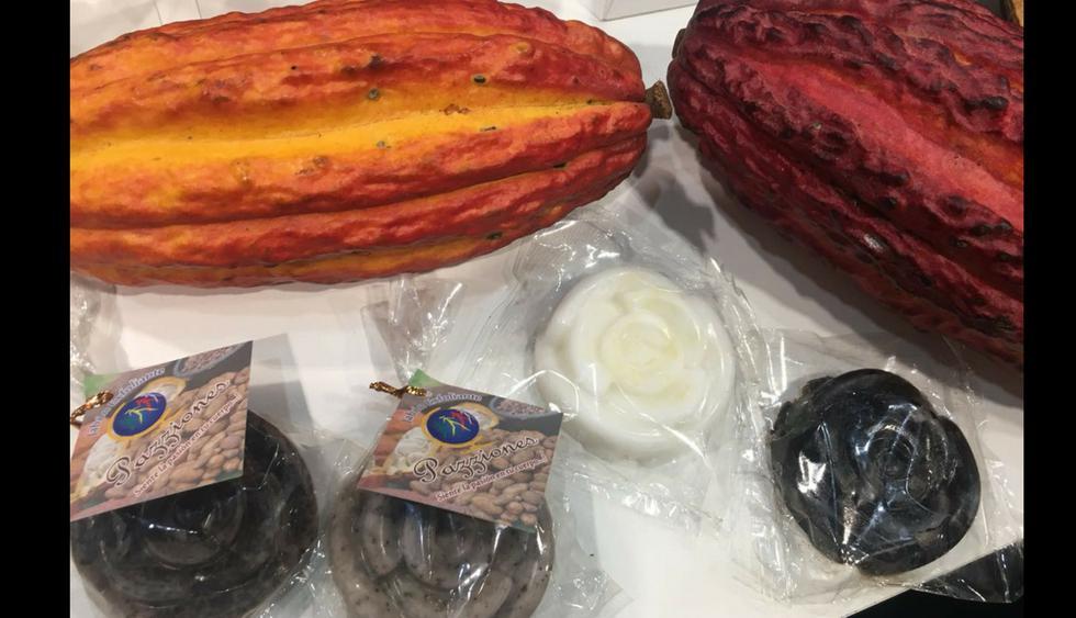 El cacao también se usa en productos cosméticos, por eso se venden en jabones