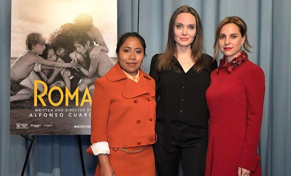 """Angelina Jolie acudió a la función especial para ver """"Roma"""". (Foto: Instagram)"""