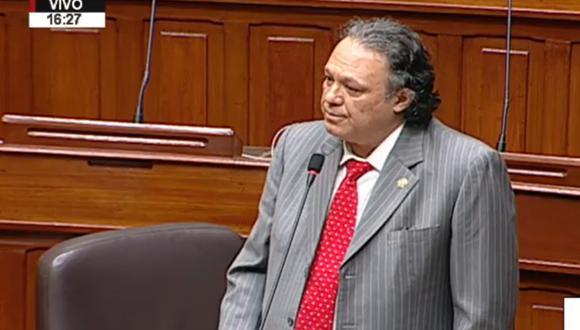 Carlos Mesía intervino esta mañana en el debate del Pleno del Congreso sobre la elección de magistrados del TC (Captura de pantalla).