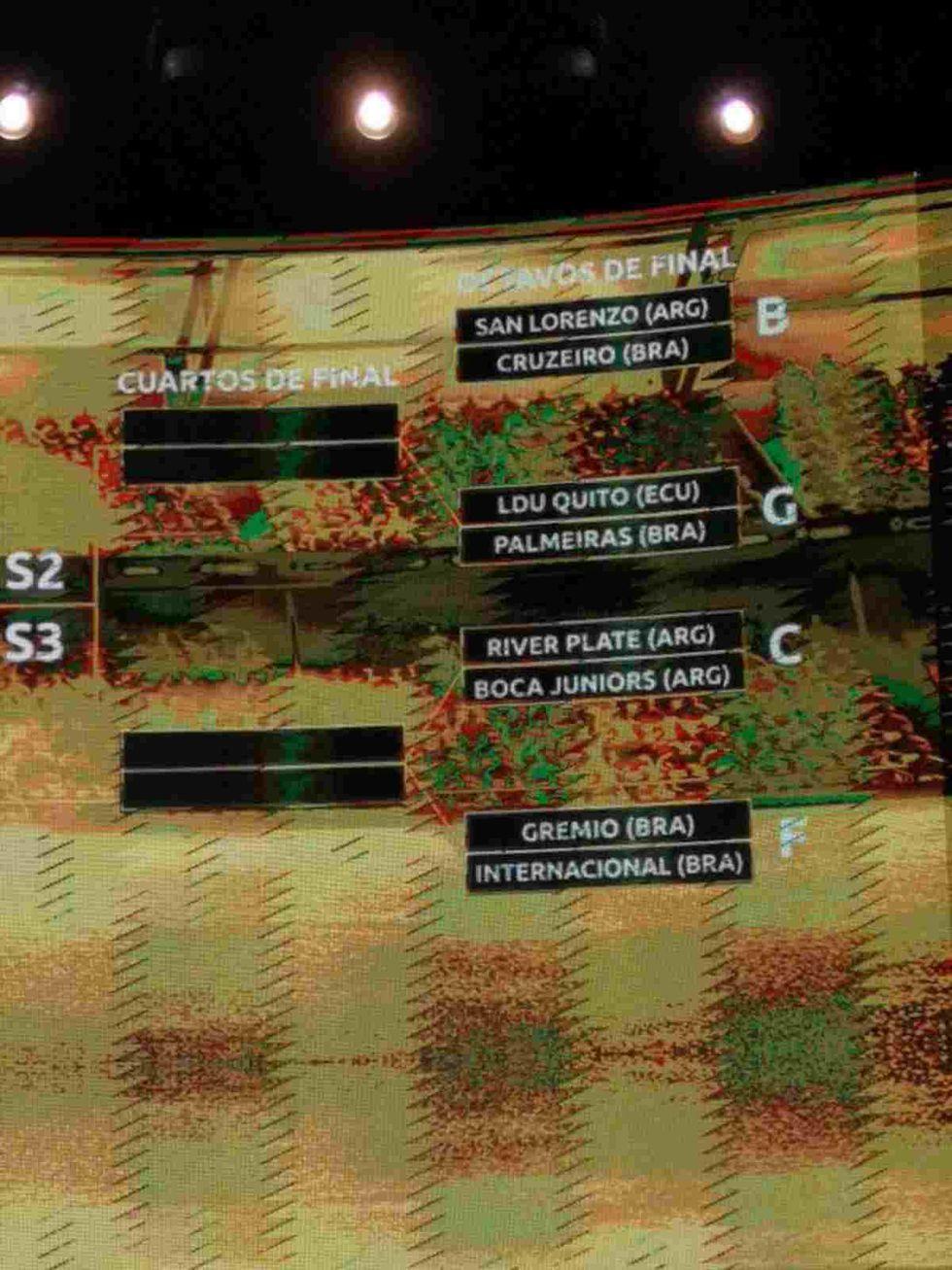 Boca y River, en el simulacro de la Copa Libertadores 2019. (Captura de Olé)