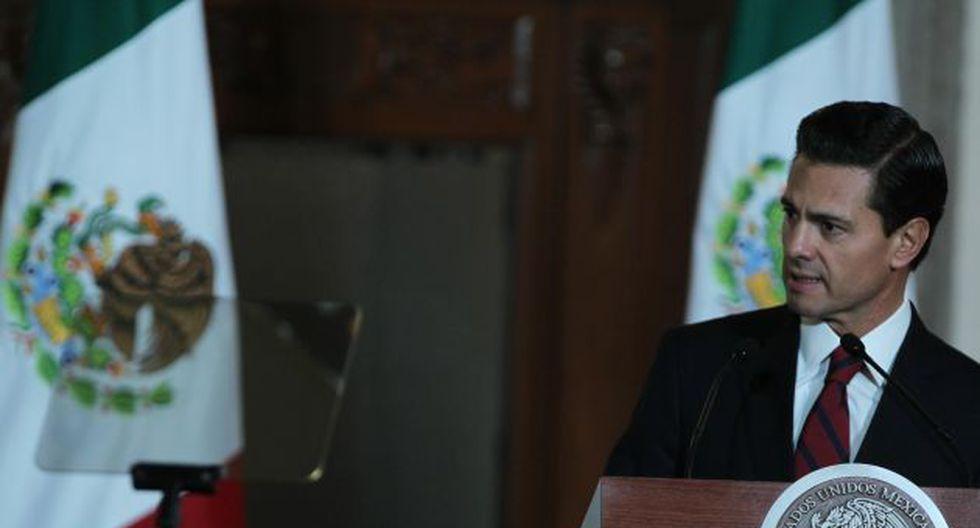 El presidente Enrique Peña Nieto señala que México no pagará por el muro fronterizo que pretende construir Donald Trump (Efe).