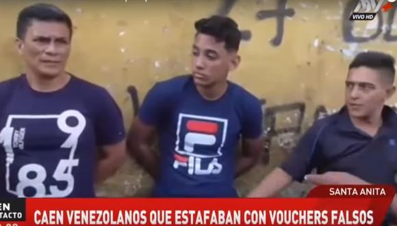 Los detenidos fueron identificados como Franklin Sánchez Medina, Roger Castillo Vásquez y Jesús Manuel Alvarado. (ATV+)