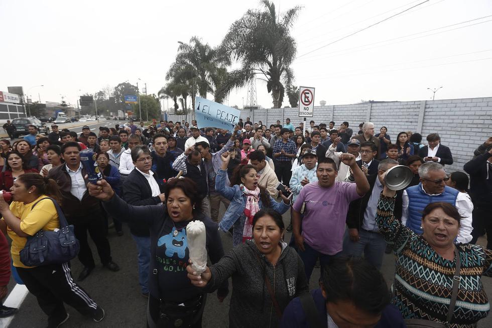 Una protesta se realizó en horas de la mañana en las casetas de peaje ubicadas en la intersección de la avenida Separadora Industrial con la Vía de Evitamiento.