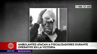 La Victoria: ambulantes atacan a fiscalizadores durante operativo