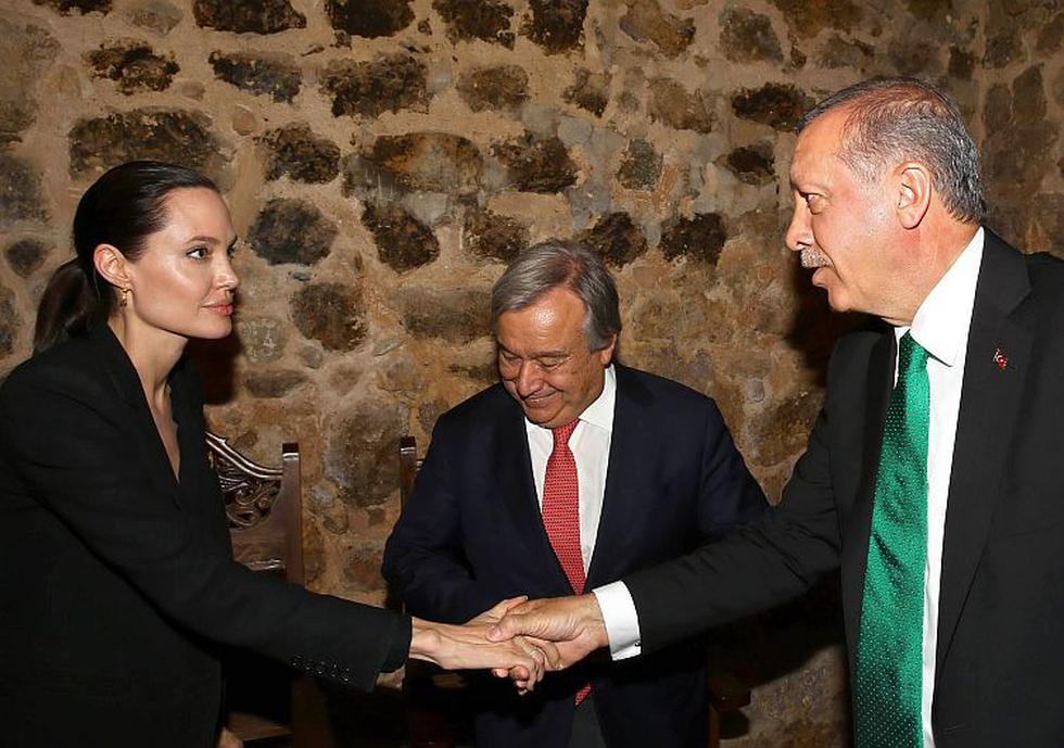 Angelina Jolie llegó a Turquía como enviada especial del Alto Comisionado de las Naciones Unidas para los Refugiados. (AP)