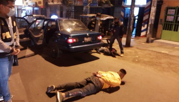 Asaltantes fueron capturados en flagrante delito. (PNP)